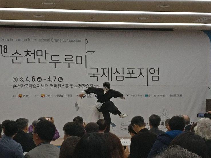 Der Kranichtanz- Kraniche sind Teil der koreanischen Tradition, kulturell und naturell.