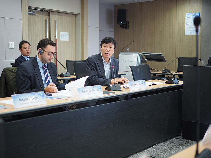 Prof. Jeonghun Park from the SNU discussing recent changes in North Korea