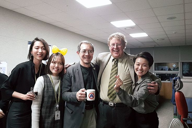 Lew Young together with longtime partners and friends