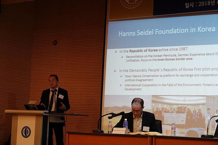 Felix Glenk, DVRK Projekt Manager der HSS Korea