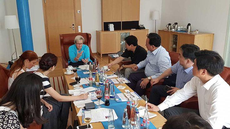 Diskussion zur politischen Bildung bei der Hanns-Seidel-Stiftung in München