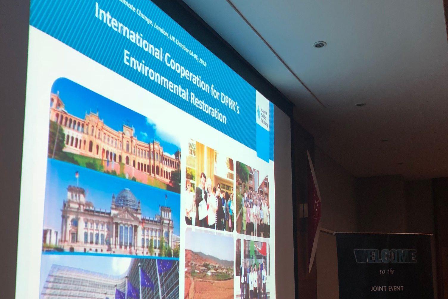 Präsentation über HSS' Arbeit für die Umwelt in DPRK