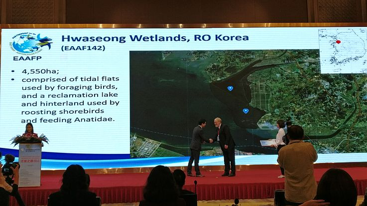 Hwaseong was recognized as an official flyway networking site