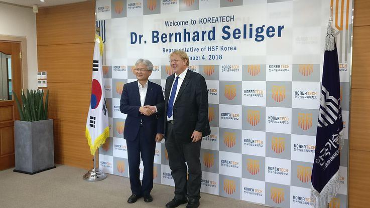 북한을 위한 기회? 한국기술교육대학교 방문