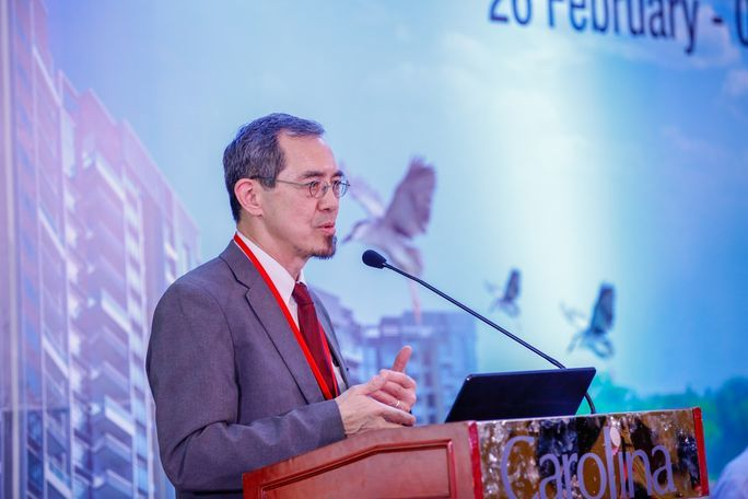 Lew Young at the pre-COP to the Asia Regional Meeting in Sri Linka in March 2018