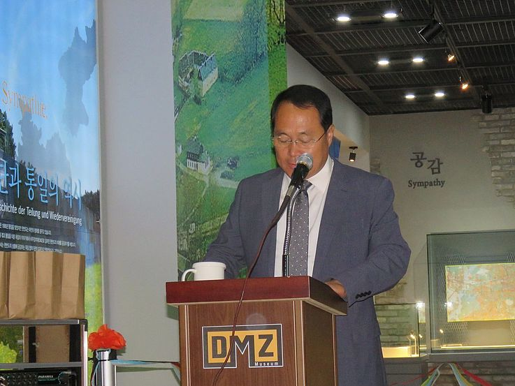 Begrüßung durch Museumsdirektor Rhee Won-Chan.