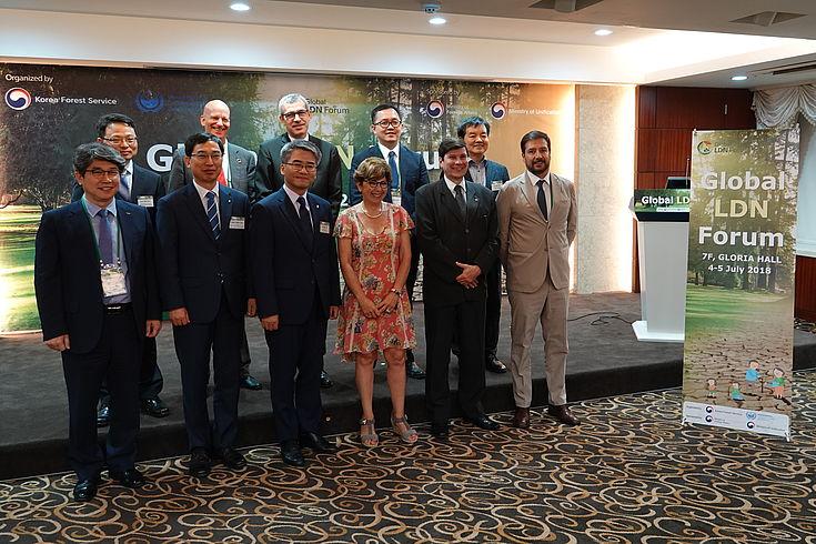 Die Teilnehmer des Ersten Globalen Forums zu Land Degradation Neutrality