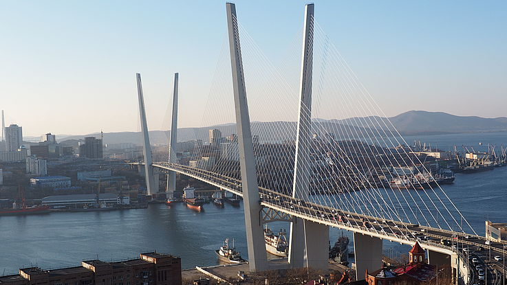 View over Vladivostok's riverside