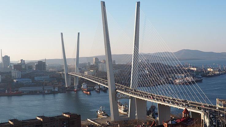 View over Vladivostok's riverside