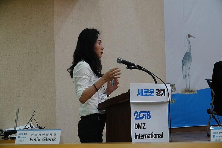 Dr. Choi Hyun-Ah von der Hanns-Seidel-Stiftung bei der Konferenz