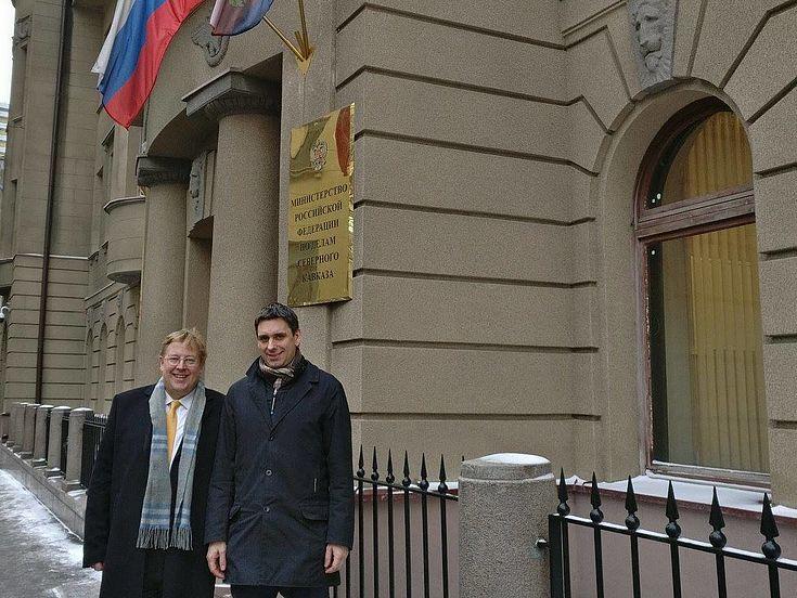 한스자이델 재단 한국 사무소 대표 베른하르트 젤리거(Bernhard Seliger) 박사(왼쪽)와 얀 드레셀(Jan Dresel) 한스자이델 재단 러시아 사무소 대표(오른쪽)