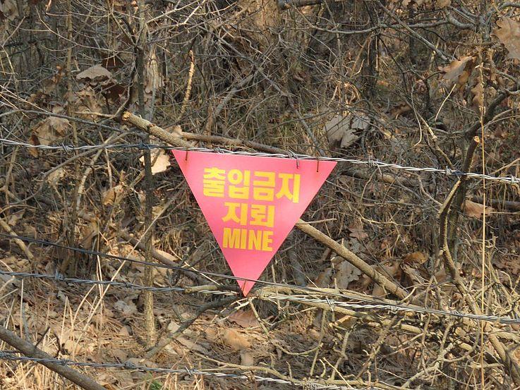 Minenfelder sind eine traurige Erinnerung an die Realität der Tödlichkeit der Teilung Koreas.