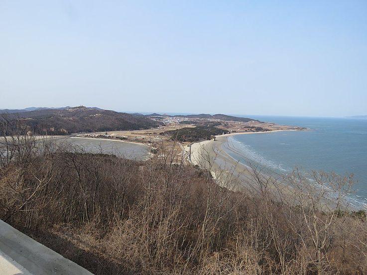 Blick auf die Insel von oben.
