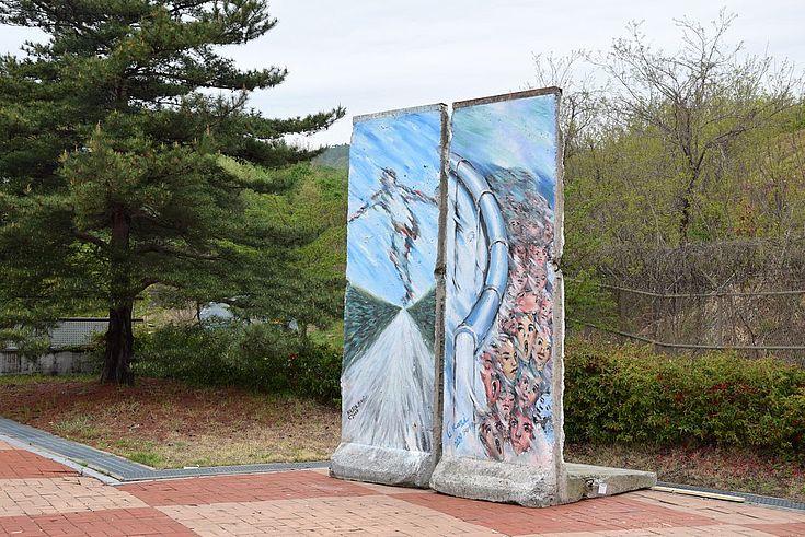zwei Teile der Berliner Mauer
