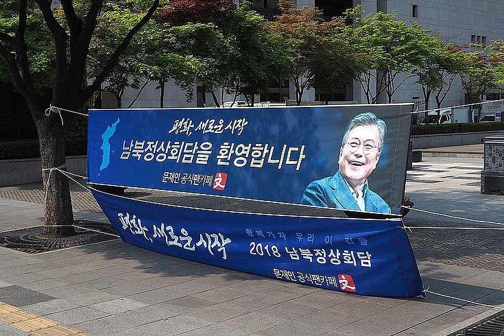 Südkoreas Präsident Moon Jae-In konnte mit dem Gipfeltreffen vor den wichtigen Lokalwahlen punkten. Aber auch Kim Jong-Un hat in der südkoreanischen Öffentlichkeit einen guten Eindruck hinterlassen