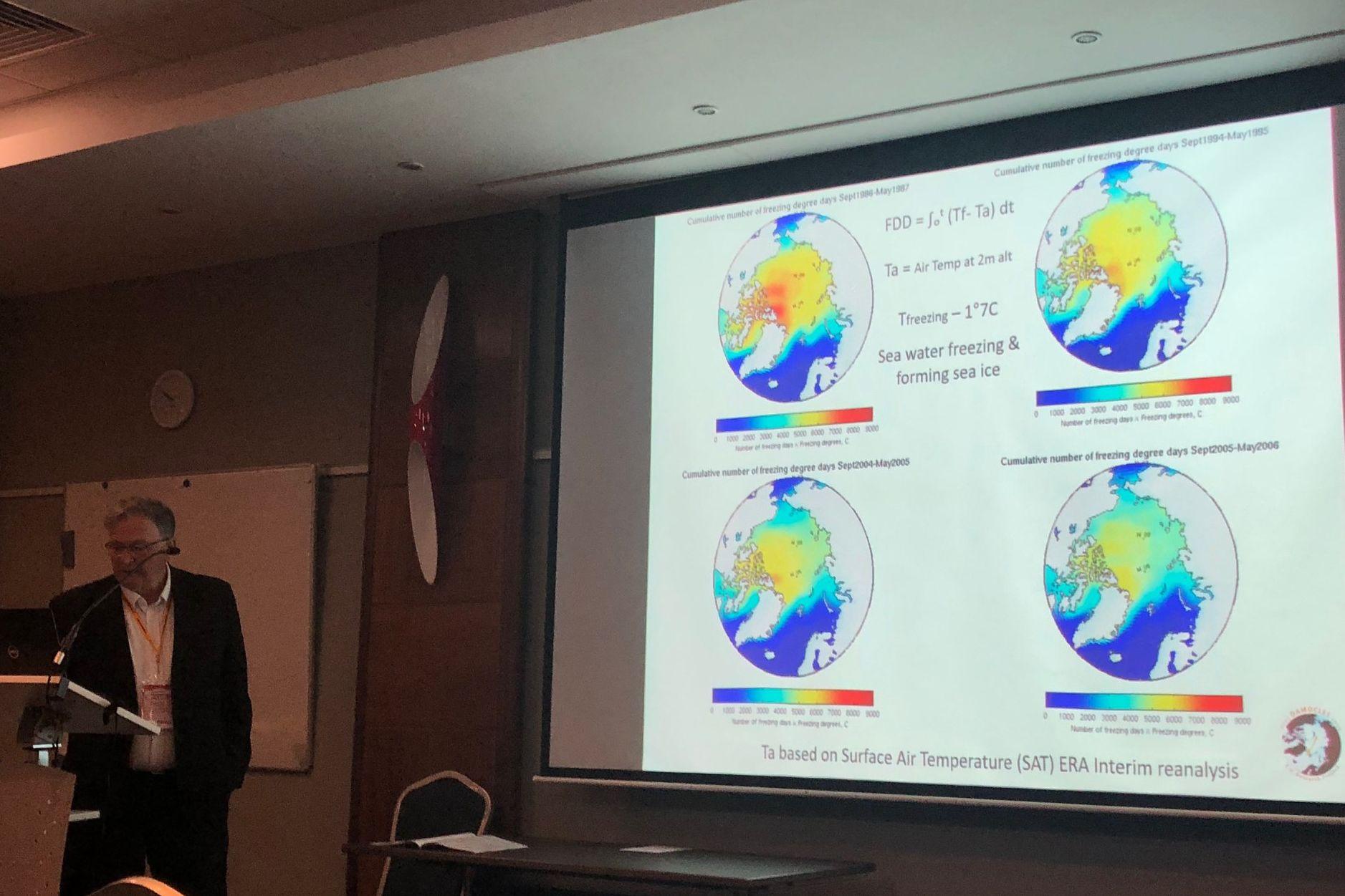 Dr. Gascard's Präsentation über den Rückgang von arktischen Meereis