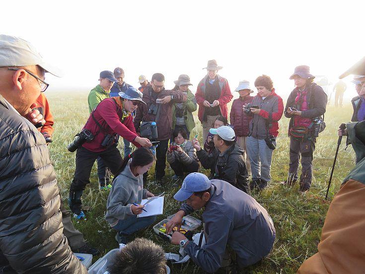Workshop in der Mongolei.