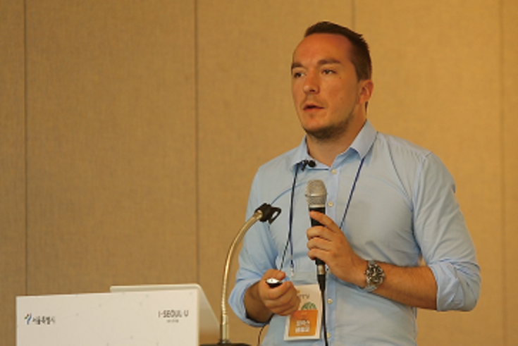 Felix Glenk stellt umweltschützende Projekte der HSS in Nordkorea vor