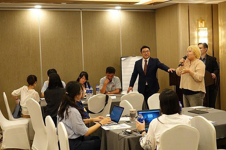 Suh Seung Oh, verantwortlicher Direktor für das Ramsar Regionalzentrum Ostasien, eröffnet den Workshop