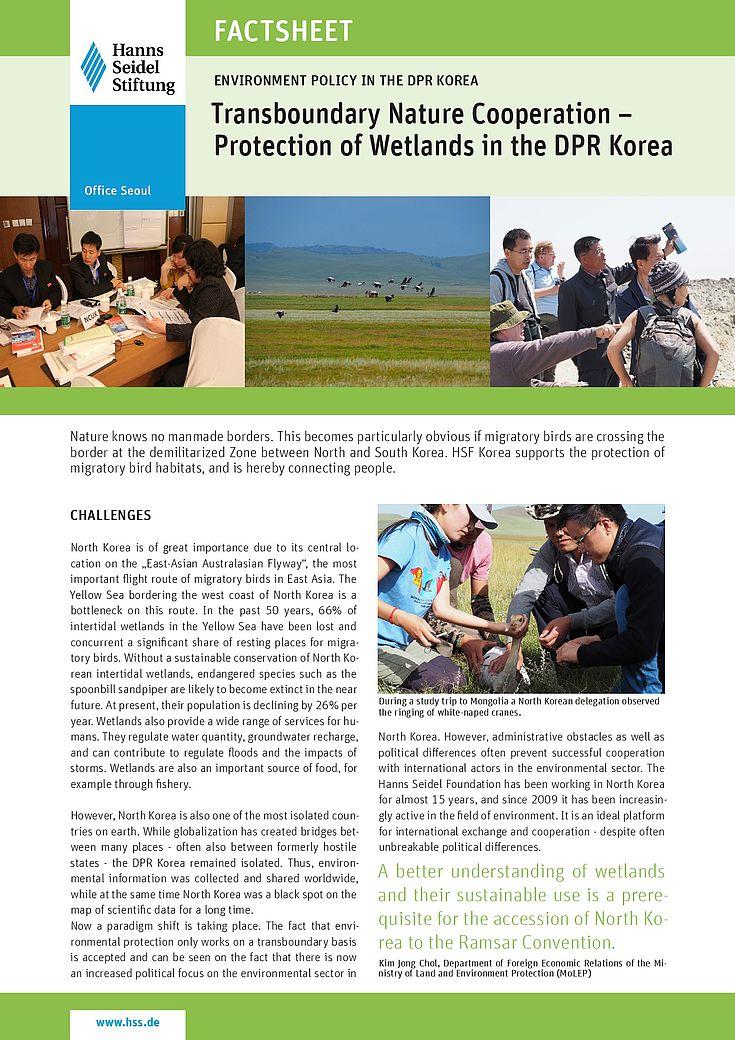 Das neue Factsheet im Bereich grenzüberschreitende Umweltkooperation