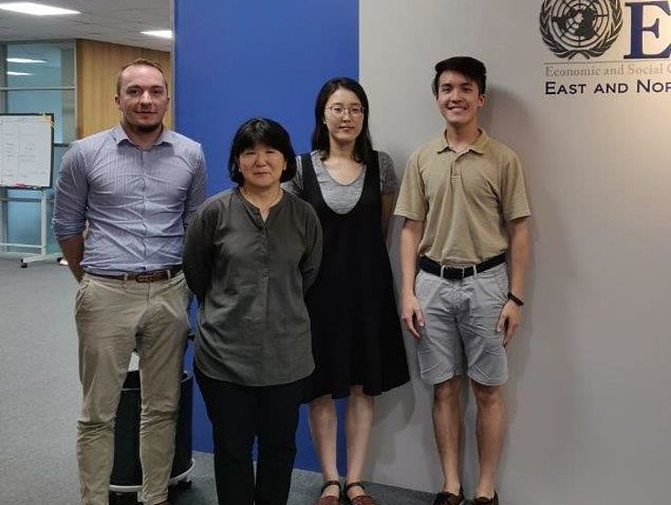 Teilnehmer des Treffens mit UNESCAP