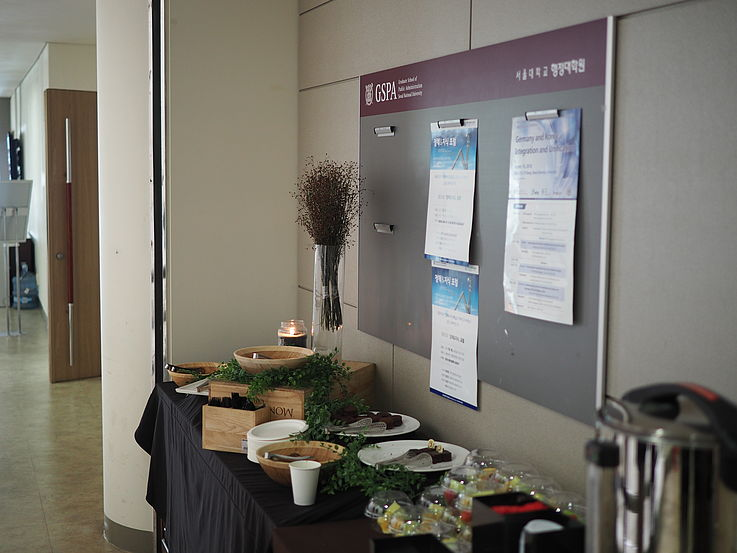 Snacks and coffee were provided for all the participants