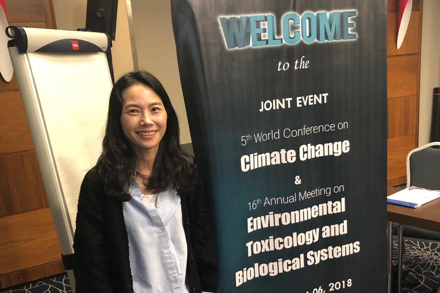 Dr. Choi, Senior Researcher, vertritt die HSS Korea bei der 5. Weltkonferenz zum Klimawandel