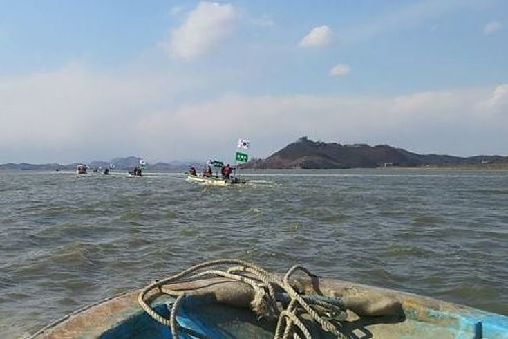 Die Insel Yudo in der Grenzregion zwischen Nord- und Südkorea.
